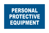 Mandatory Personal Protective Equipment signs