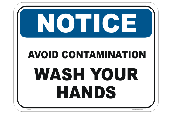 Avoid Contamination Wash Your Hands sign