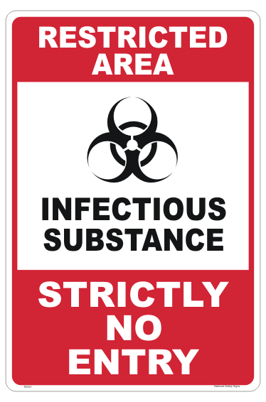 Infectious Substance sign - Class 6.2 - COVID-19