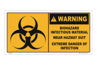 Biohazard Infectious Material Label - Coronavirus COVID-19