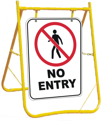 No entry Sign - stop no entry sign