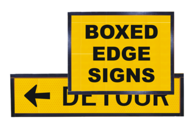 Boxed Edge Temporary Road Works Signs