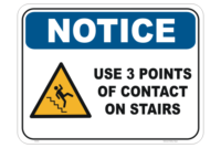 Stairs Sign 3 Points of contact