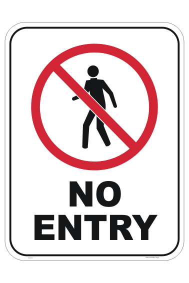 No Entry Person sign