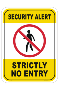 Security Alert sign