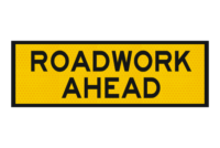 T1-1 Roadwork Ahead sign - Boxed edge signs