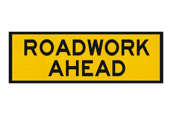 T1-1 Roadwork Ahead sign - Boxed edge signs