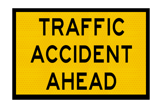 T1-11A Traffic Accident Ahead Sign