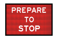 T1-18A Prepare To Stop Sign