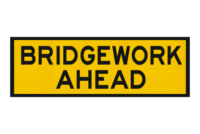 T1-2 Bridgework Ahead sign