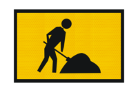 T1-224A Workman Ahead sign