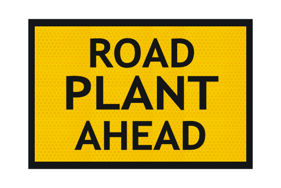 T1-3-1 Road Plant Ahead sign