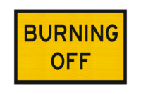 T2-14A Burning Off Sign