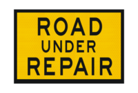 T2-15A Road Under Repair Sign