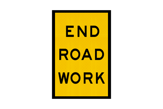T2-17A - End Road Work Sign