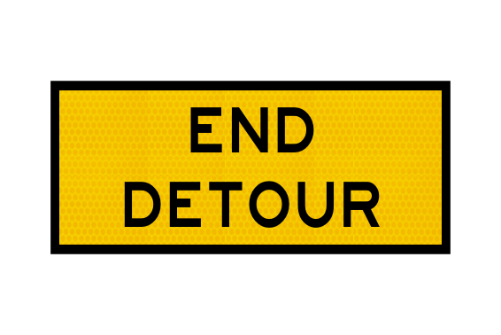 T2-23 End Detour Sign