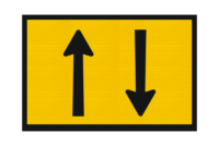 T2-24 Two Way Traffic Sign