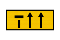 T2-6-2A Lane Ends Sign