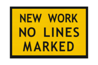 T3-11A New Work No Lines Marked Sign