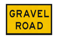T3-13A Gravel Road Sign
