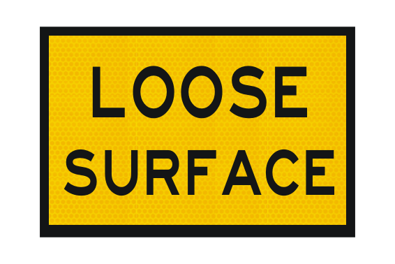T3-14A Loose Surface Sign