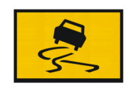 T3-3A Slippery Surface Sign