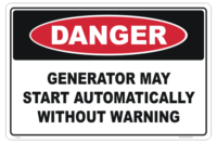 Generator Starts Automatically sign