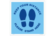 Please Stand Here Distancing Floor sign - Please Stand Here Distancing sign - COVID 19 Health and Hygiene