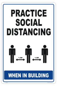 Social Distancing in the Workplace Sign - 1.5 metres distance