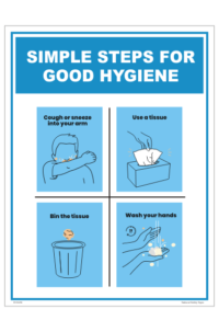 Simple Steps for Good Hygiene sign