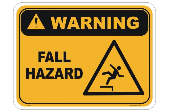 Fall Hazard warning sign