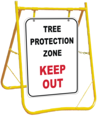 Tree Protection Zone sign with Stand