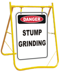 Stump Grinding sign with stand