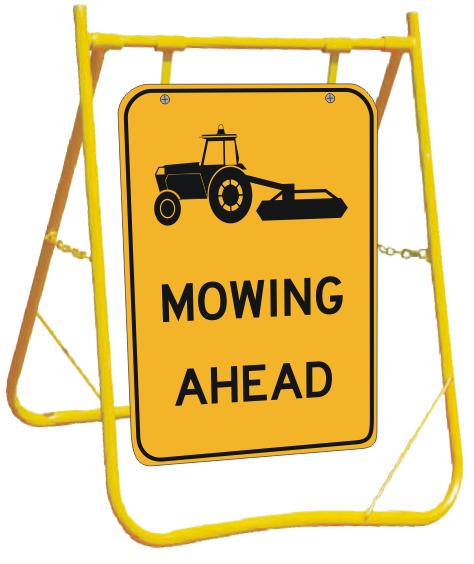 Tractor Slashing sign with Stand