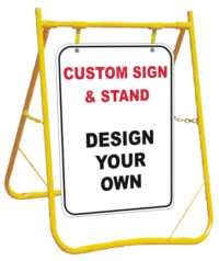Custom Sign and stand Combination