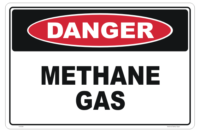 Methane Gas sign