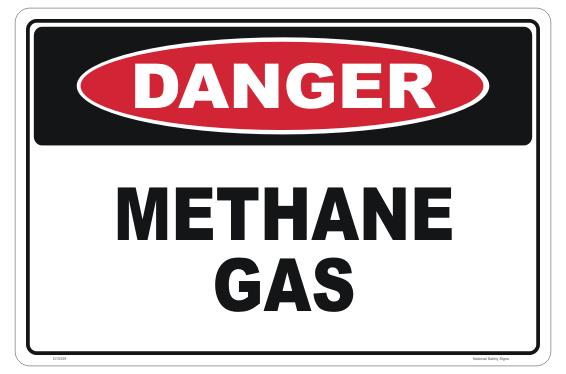 Methane Gas sign