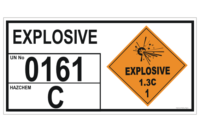 Explosive 1.3C Storage Information Panel