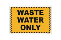 Waste Water Only sign