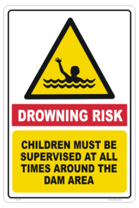 Dam Drowning Risk sign