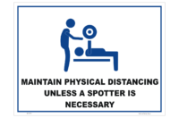 Physical Distancing in Gyms sign