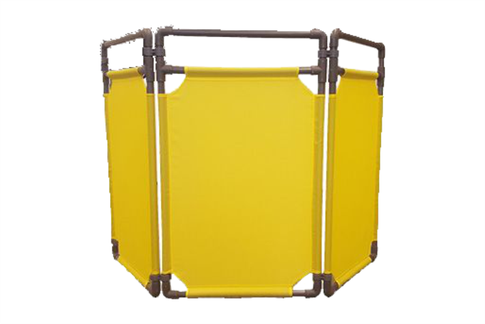 Tri-Panel Safety Barrier