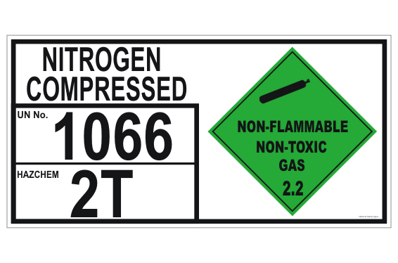 Nitrogen Compressed Storage panel