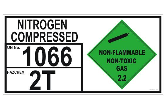 Nitrogen Compressed Storage panel