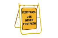 Pedestrians Use Other Footpath sign with stand