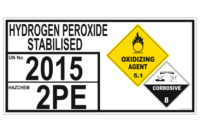 Hydrogen Peroxide Stabilised Storage placard