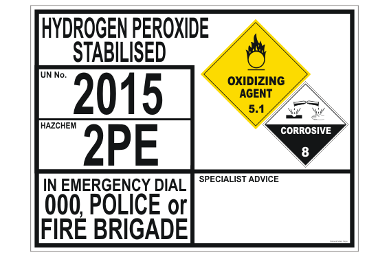 Hydrogen Peroxide Stabilised transport EIP