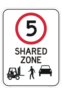 Forklift Pedestrian Zone 5 KPH Sign