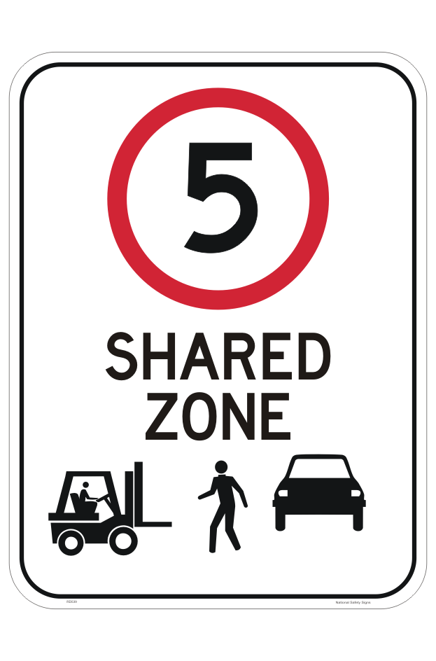 Forklift Pedestrian Zone 5 KPH Sign