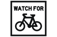 Watch for Cyclists sign